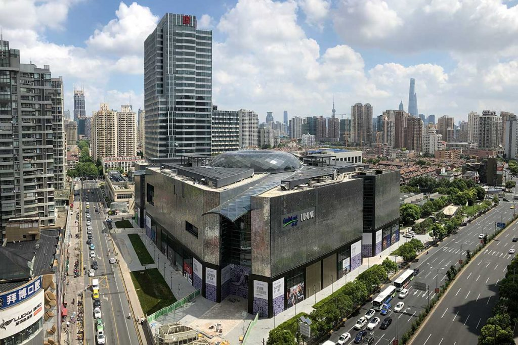 LuOne Capitaland Shopping Mall in Luwan District, Shanghai, China.