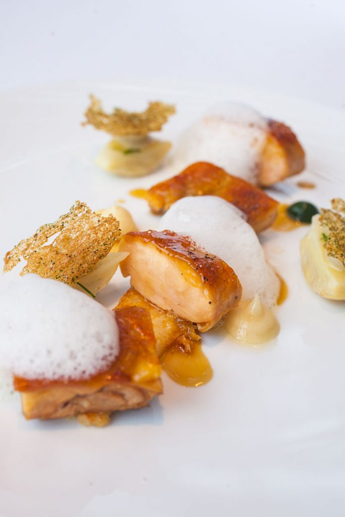 Chicken Lunch Entree at Maison Lameloise Shanghai - French Michelin 3-star restaurant opens in Shanghai Tower.