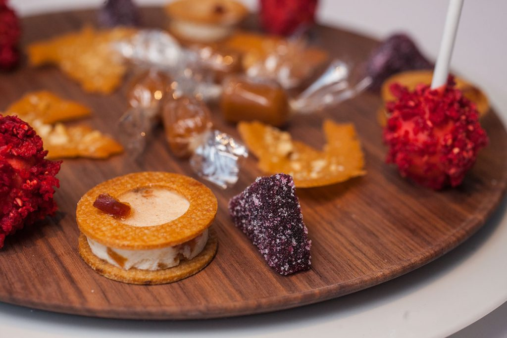 Dessert, Petit Fours at Maison Lameloise Shanghai - French Michelin 3-star restaurant opens in Shanghai Tower.