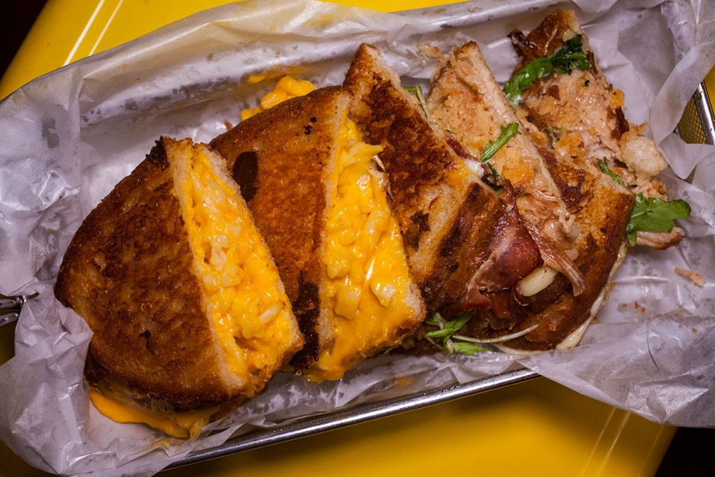 Grilled cheese at Co. Cheese Melt Bar on Yuyuan Lu, Shanghai. Grilled cheese sandwich shop and bar in Shanghai. Photo by Rachel Gouk.