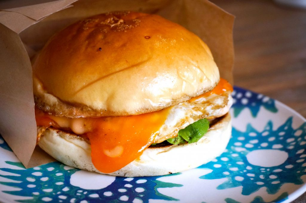 Breakfast Sandwich at RAC Bar and Cafe in Shanghai. Photo by Rachel Gouk.