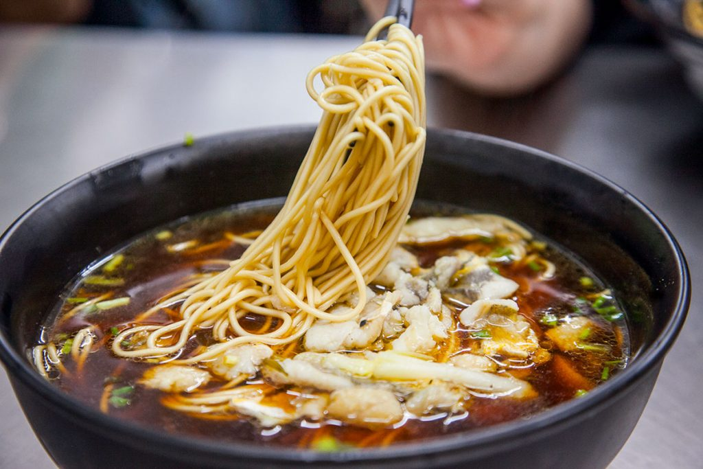Noodles in Shanghai: Yellow Croaker Noodles at A Niang Mian (Photo by Rachel Gouk)