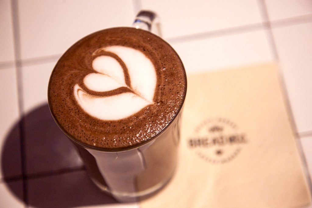 Where to get hot chocolate in Shanghai. Hot chocolate at Bread ETC, a bakery in Shanghai.