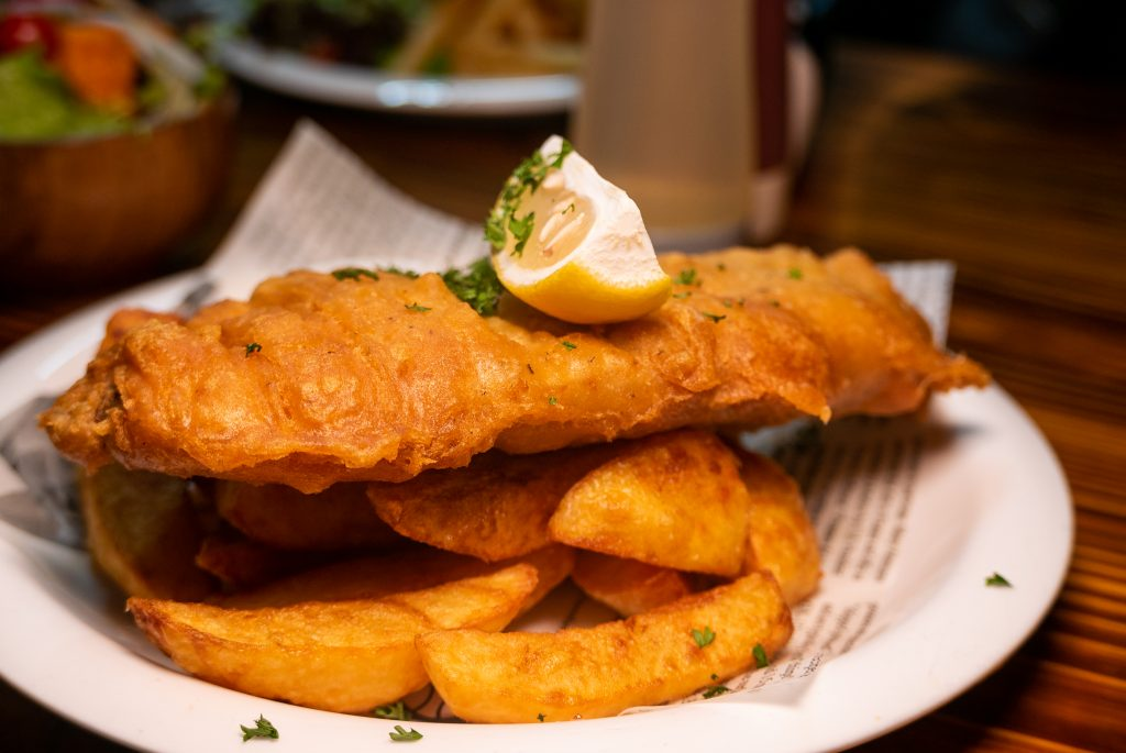 Fish PLus, a fish and chip shop in Shanghai. beer battered Icelandic cod. Photo by Rachel Gouk.