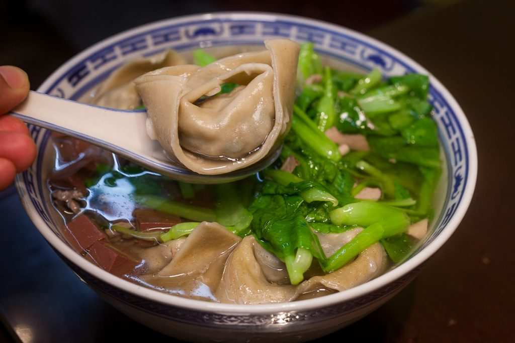 Goose Dumplings at Yi Ji E Guan, Yi's Noodle House, a local Chinese restaurant specializing in noodles and white-cut goose. Photo by Rachel Gouk.