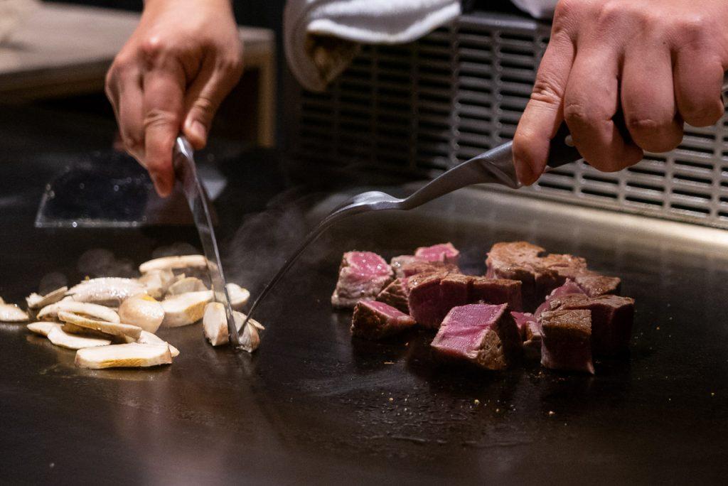 Hibachi at Kagen, a popular Japanese teppanyaki restaurant in Shanghai. Photo by Rachel Gouk.