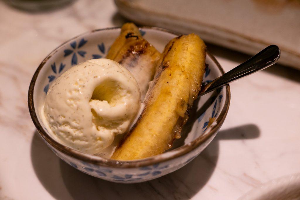 Dessert at Kagen, a popular Japanese teppanyaki restaurant in Shanghai. Photo by Rachel Gouk.