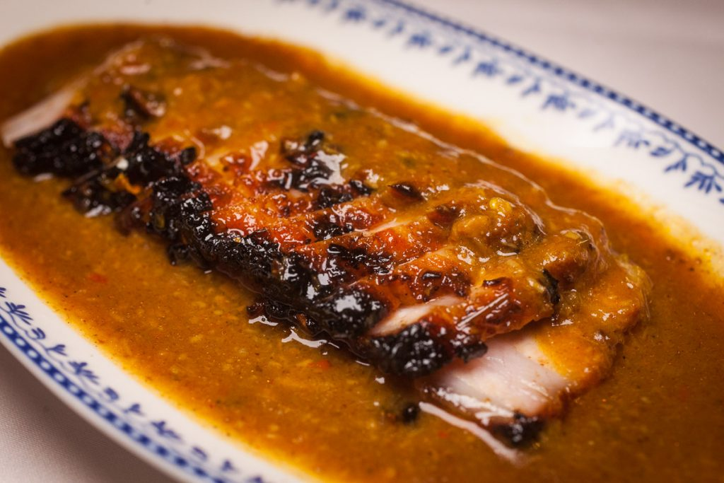 Iberico Satay at Lion, a contemporary Nanyang restaurant in Xintiandi, Shanghai.  Photo by Rachel Gouk.