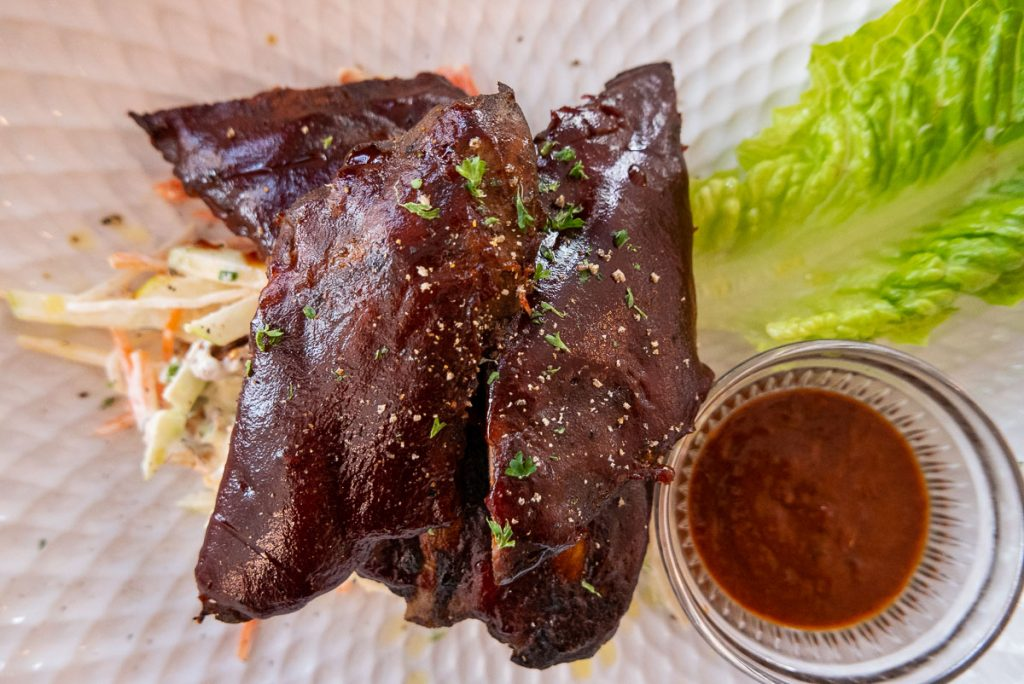 Singapore's popular PS.Cafe opens in Shanghai. Sticky BBQ Ribs. Photo by Rachel Gouk.