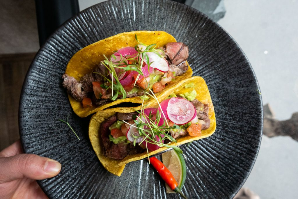 Tacos at Pistolera, a Mexican restaurant in Shanghai. Photo by Rachel Gouk.