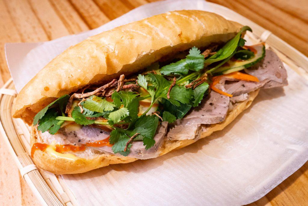 Sandwiches at Bun Cha Cha, a Vietnamese restaurant in Shanghai specializing in bun cha. Photo by Rachel Gouk.