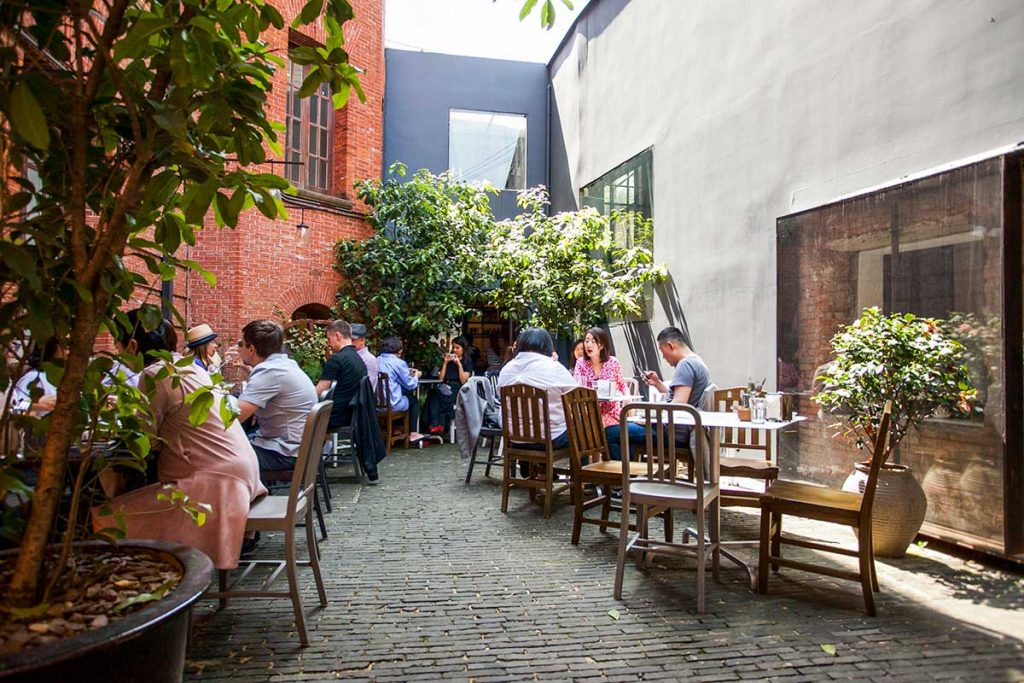 The Commune Social, a popular Mediterranean restaurant in Shanghai, good for brunch. Photo by Rachel Gouk.