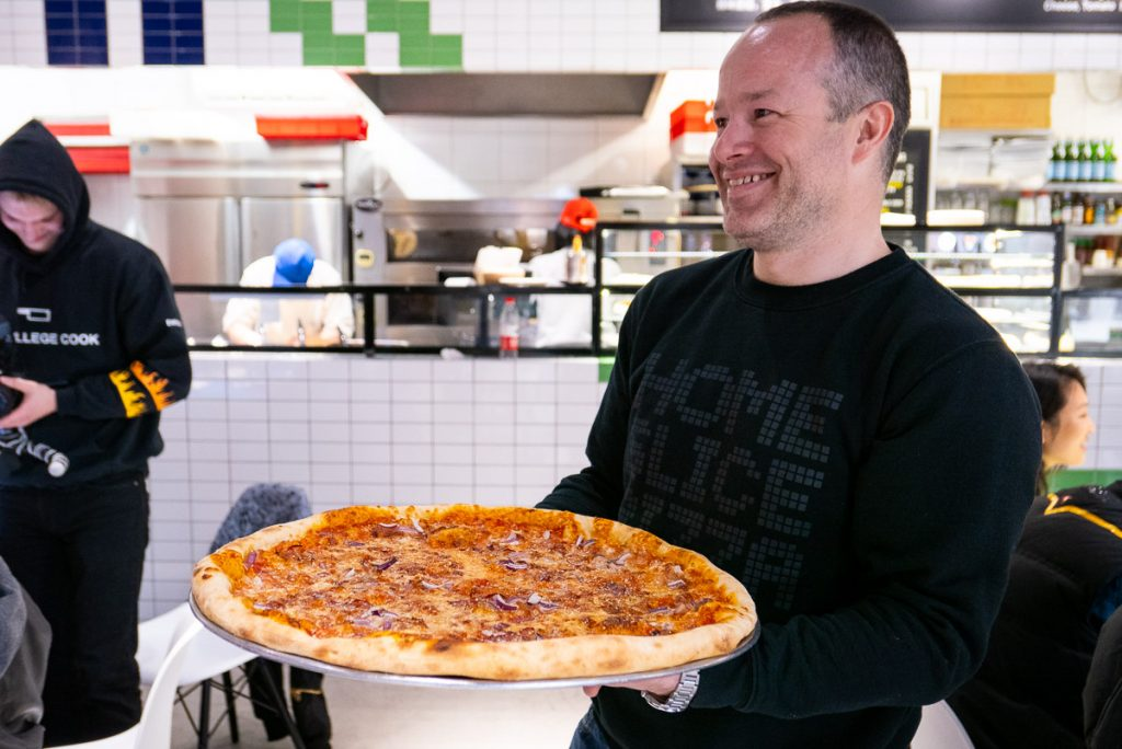 Nat Alexander, founder of Homeslice Shanghai, a popular New York style pizza place in Shanghai. Photo by Rachel Gouk.