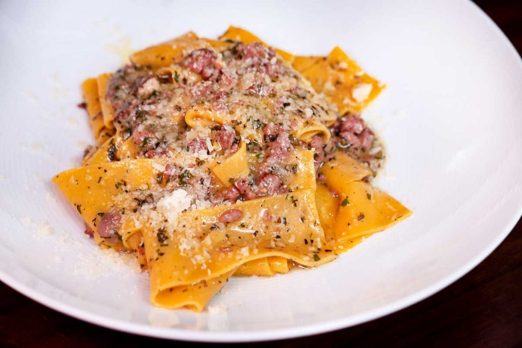 Duck ragu pappardelle at Frasca Italian restaurant at the Middle House, Shanghai. Photo by Rachel Gouk.