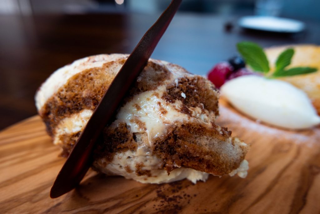 Tiramisu at Frasca Italian restaurant at the Middle House, Shanghai. Photo by Rachel Gouk.