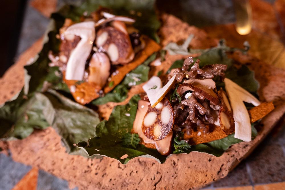 Mushrooms at Botanik, a seasonal, mostly plant-based sustainable restaurant in Shanghai. Photo by Rachel Gouk.