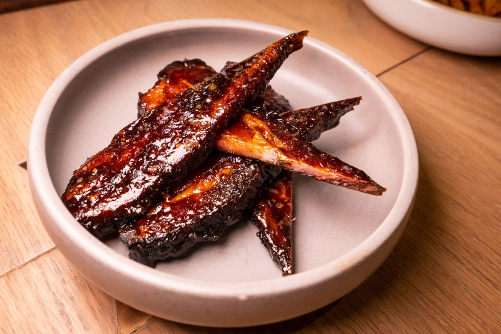 Tuhao Bacon at Heritage by Madison, a restaurant in Shanghai by chef Austin Hu serving a seamless mix of Western and Asian influences. Photo by Rachel Gouk.