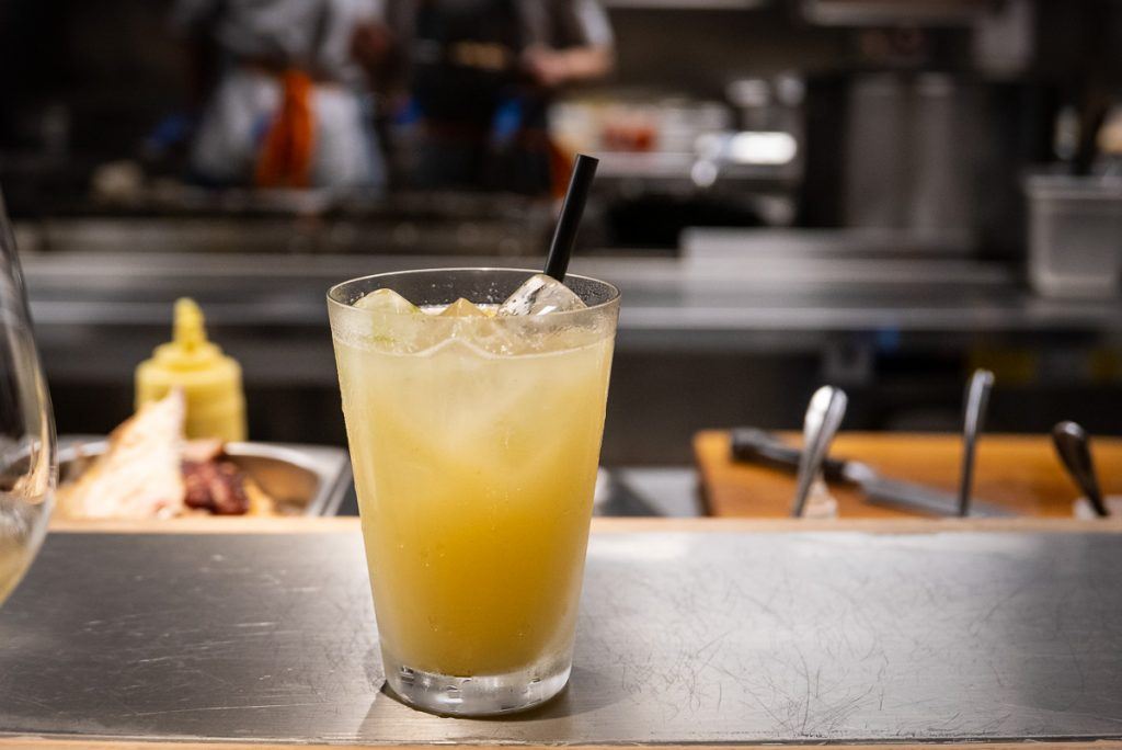 Ginger and Lime house made soda at Heritage by Madison, a restaurant in Shanghai by chef Austin Hu serving a seamless mix of Western and Asian influences. Photo by Rachel Gouk.