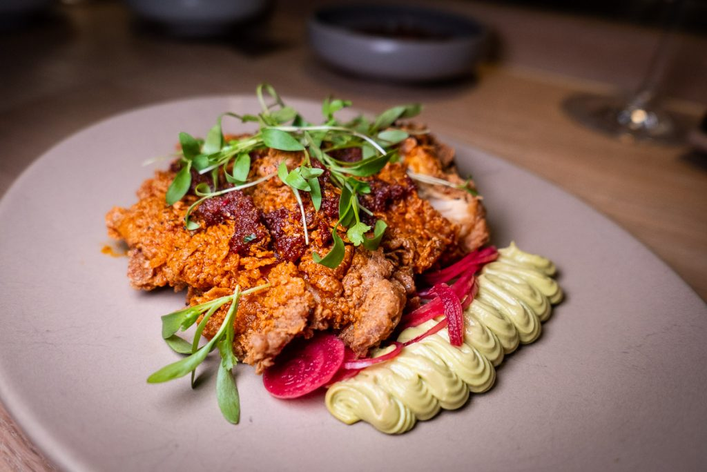 Chongqing Hot Chicken at Heritage by Madison, a restaurant in Shanghai by chef Austin Hu serving a seamless mix of Western and Asian influences. Photo by Rachel Gouk.