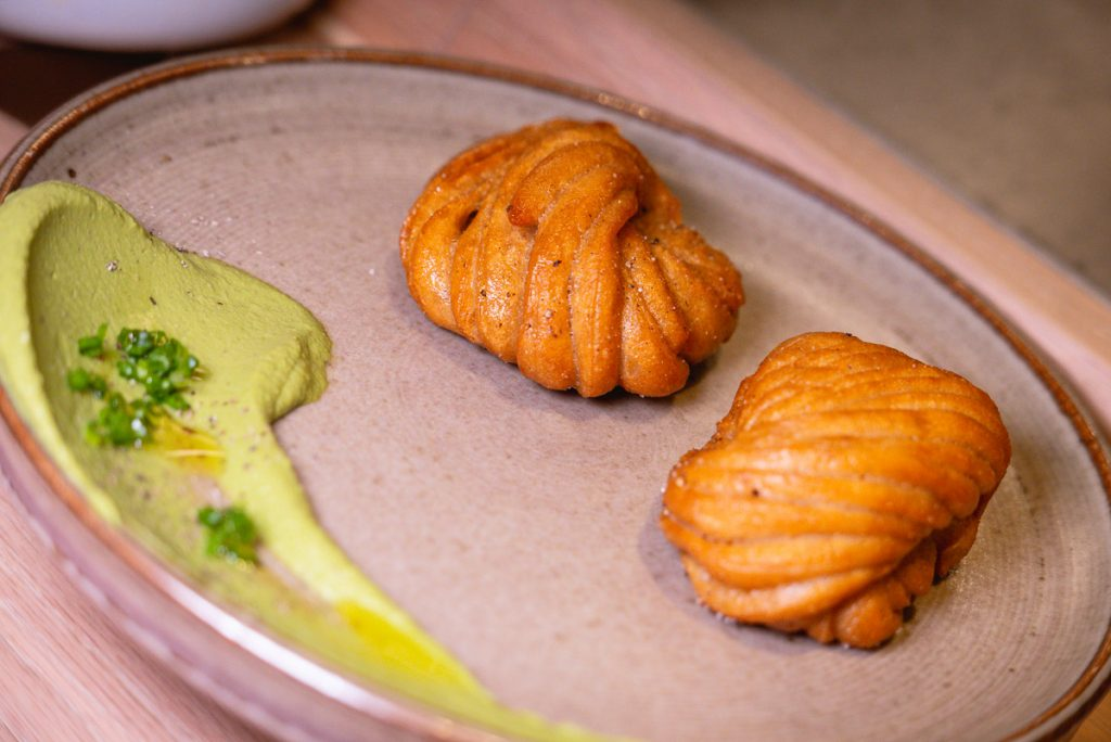 Golden Rye Mantou at Heritage by Madison, a restaurant in Shanghai by chef Austin Hu serving a seamless mix of Western and Asian influences. Photo by Rachel Gouk.
