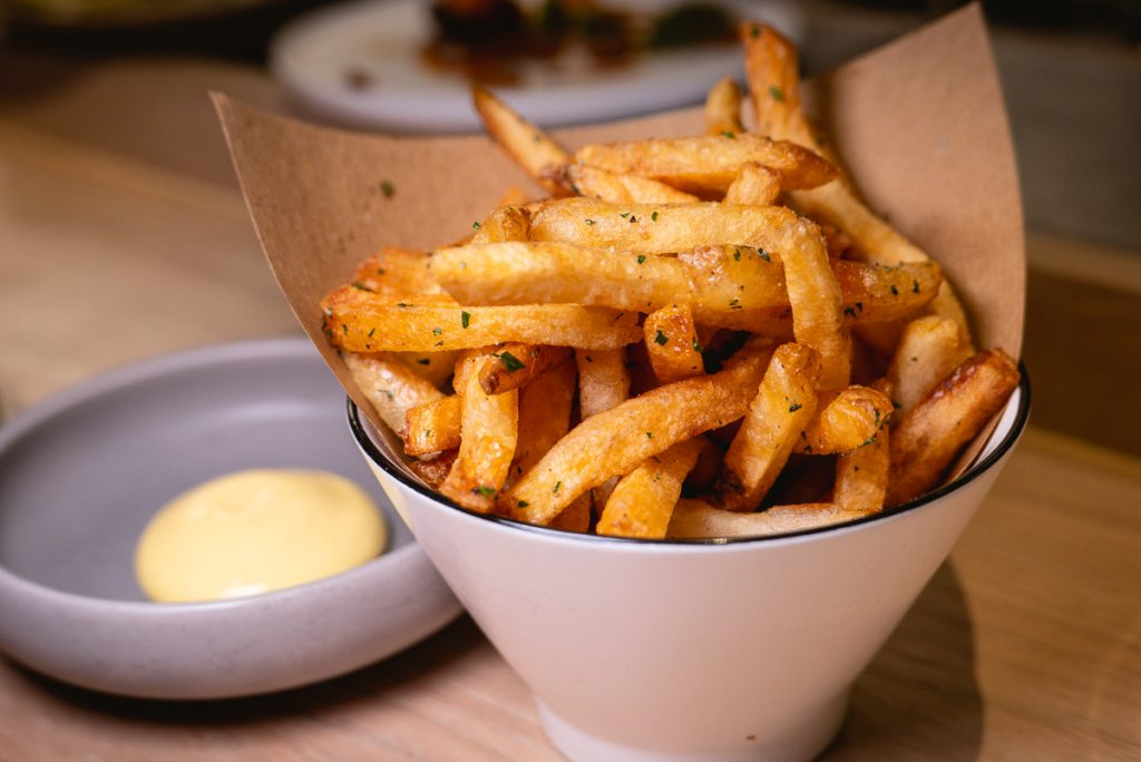 Beef Fat Fries at Heritage by Madison, a restaurant in Shanghai by chef Austin Hu serving a seamless mix of Western and Asian influences. Photo by Rachel Gouk.