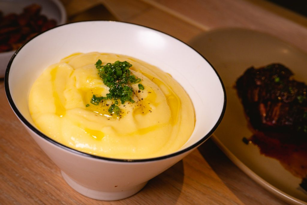 Creamy potato puree at Heritage by Madison, a restaurant in Shanghai by chef Austin Hu serving a seamless mix of Western and Asian influences. Photo by Rachel Gouk.