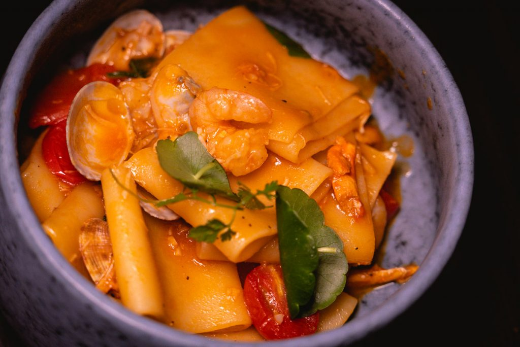 Paccheri at Arch by Taste Buds — a cocktail bar in Shanghai. Photo by Rachel Gouk.