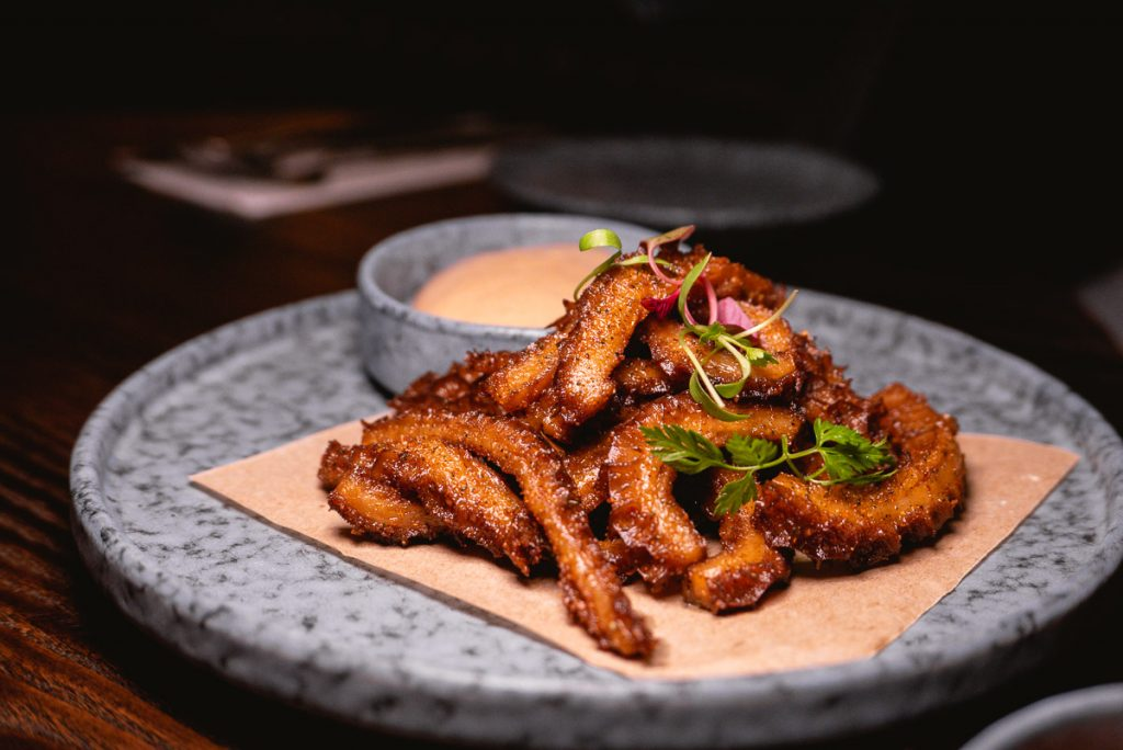 Deep-fried ox tripe  at Arch by Taste Buds — a cocktail bar in Shanghai. Photo by Rachel Gouk.