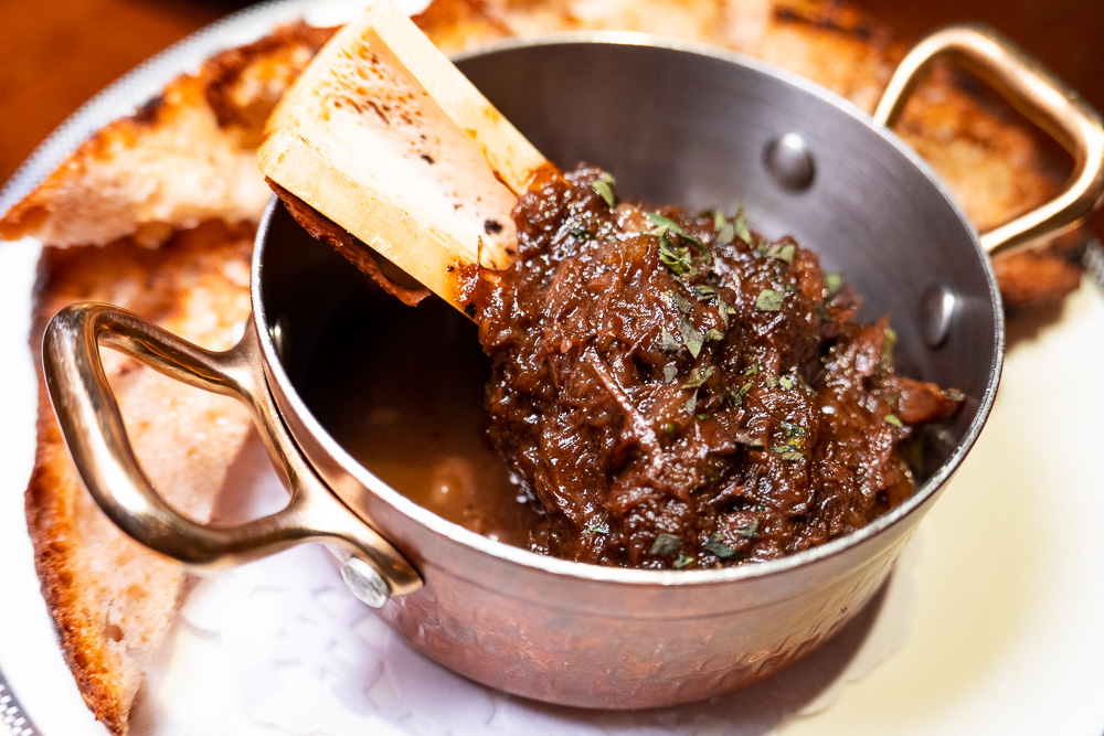 Braised Oxtail on the brunch menu at Coquille Seafood Bistro, French restaurant in Shanghai. Photo by Rachel Gouk.