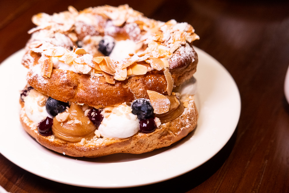 Paris-Brest at Coquille Seafood Bistro, French restaurant in Shanghai. Photo by Rachel Gouk.