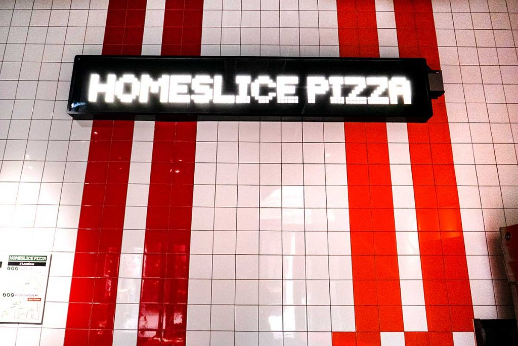 Homeslice, an extremely popular New York style pizzeria in Shanghai. Photo by Rachel Gouk.