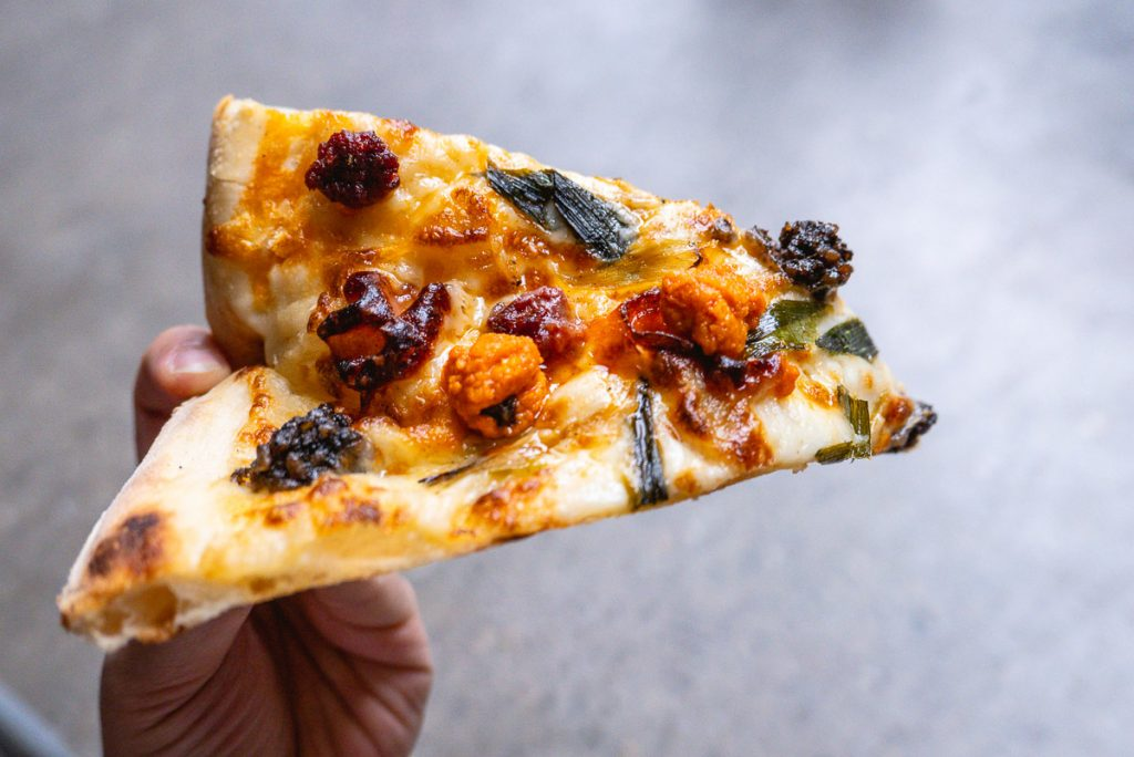 Homeslice Pizza Shanghai, summer 2019 pizzas. Photo by Rachel Gouk.