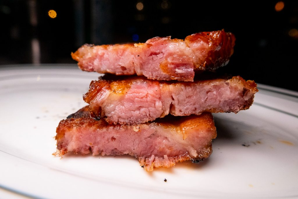 Bacon at Wolfgang's Steakhouse Shanghai. Photo by Rachel Gouk.