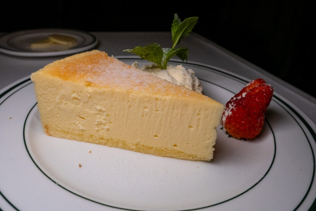 Cheesecake at Wolfgang's Steakhouse Shanghai. Photo by Rachel Gouk.