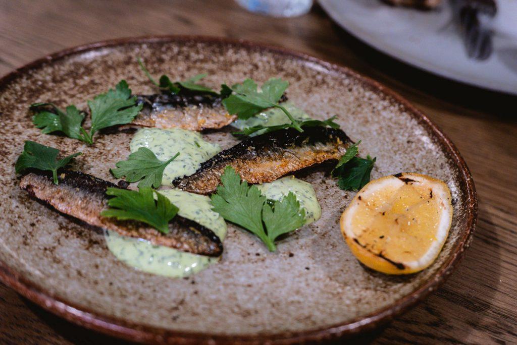 Grilled Sardines at BOR Eatery, a restaurant in Shanghai. Photo by Rachel Gouk