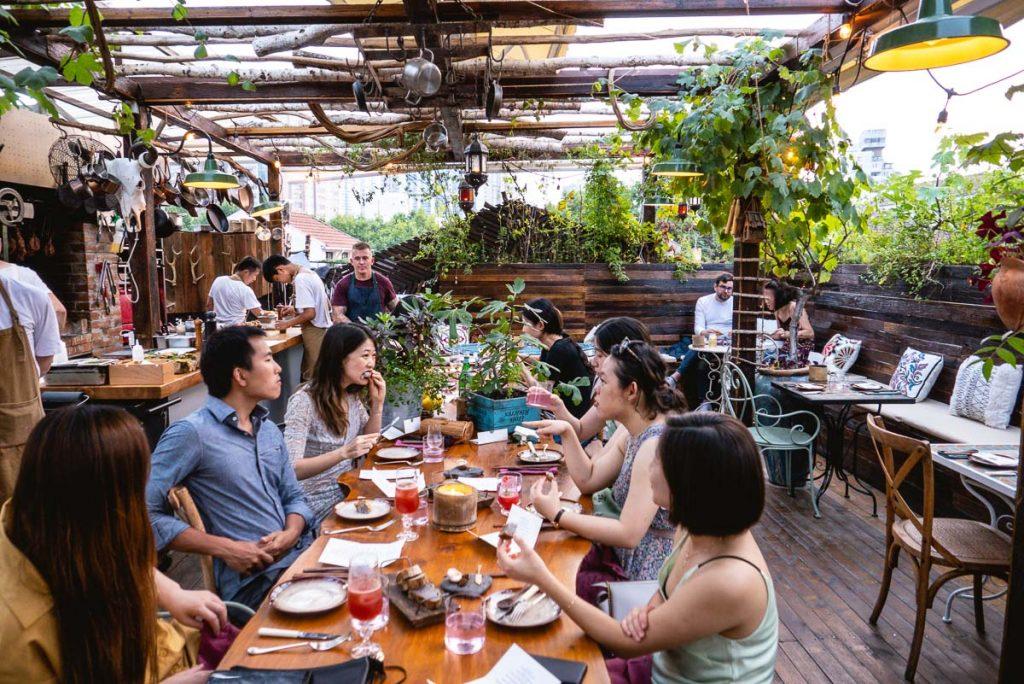 Botanik, a sustainable, seasonal rooftop restaurant in Shanghai. Photo by Rachel Gouk.