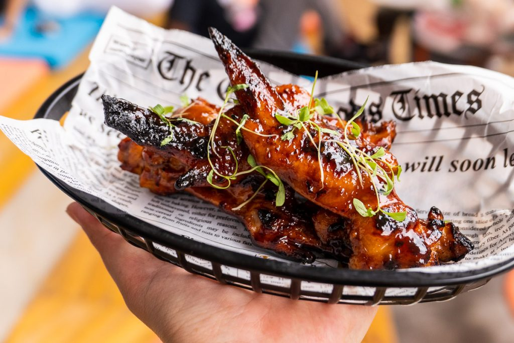 Grilled Chicken Wings at UP Shanghai's Sunday Cookout barbecue brunch. Photo by Rachel Gouk