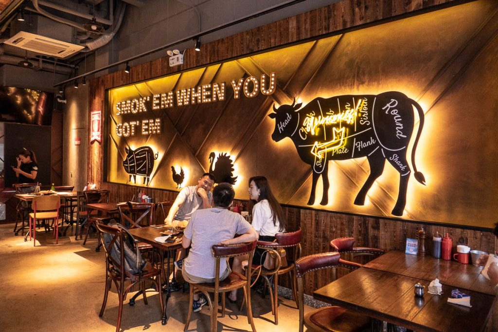 American BBQ restaurant and bar in Shanghai. Photo by Rachel Gouk.
