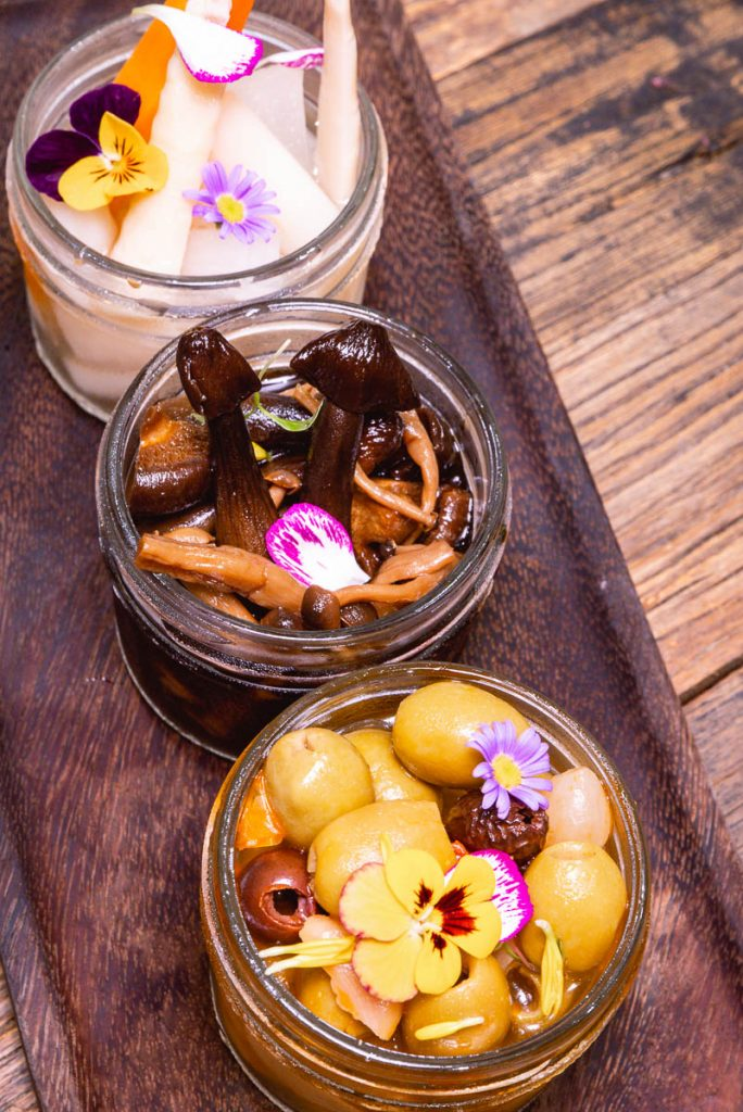 Pickles at Head in the Clouds, an all-day brunch restaurant in Shanghai. (Photo by Rachel Gouk)