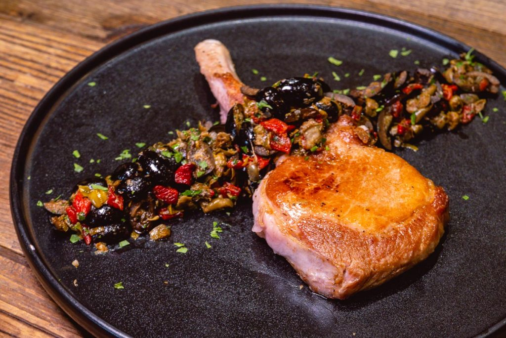 Pork chop at Head in the Clouds, an all-day brunch restaurant in Shanghai. (Photo by Rachel Gouk)