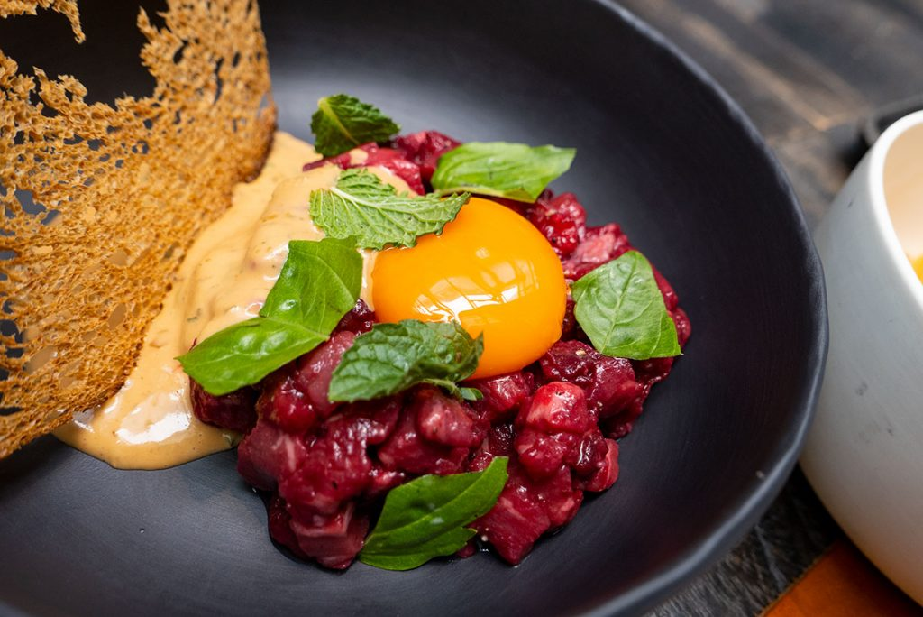 Best new restaurants in Shanghai 2019: beef tartare at Polux. Photo by Rachel Gouk.