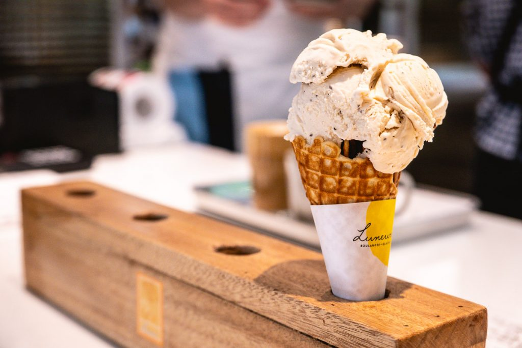 Ice cream from Luneurs, a bakery and gelato shop in Shanghai.