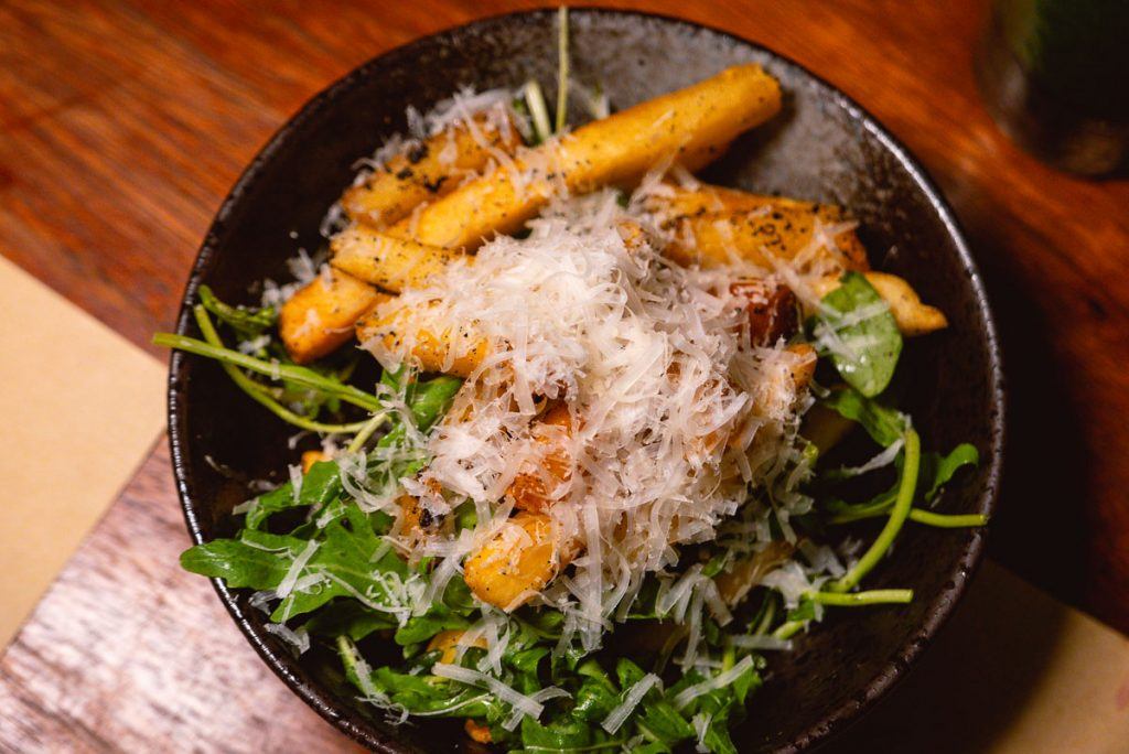 Truffle French Fries at O'Mills, a bakery and bistro in Shanghai. Photo by Rachel Gouk.