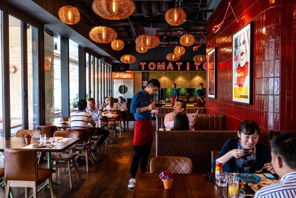 Tomatito, a Spanish tapas restaurant in Shanghai. Photo by Rachel Gouk.