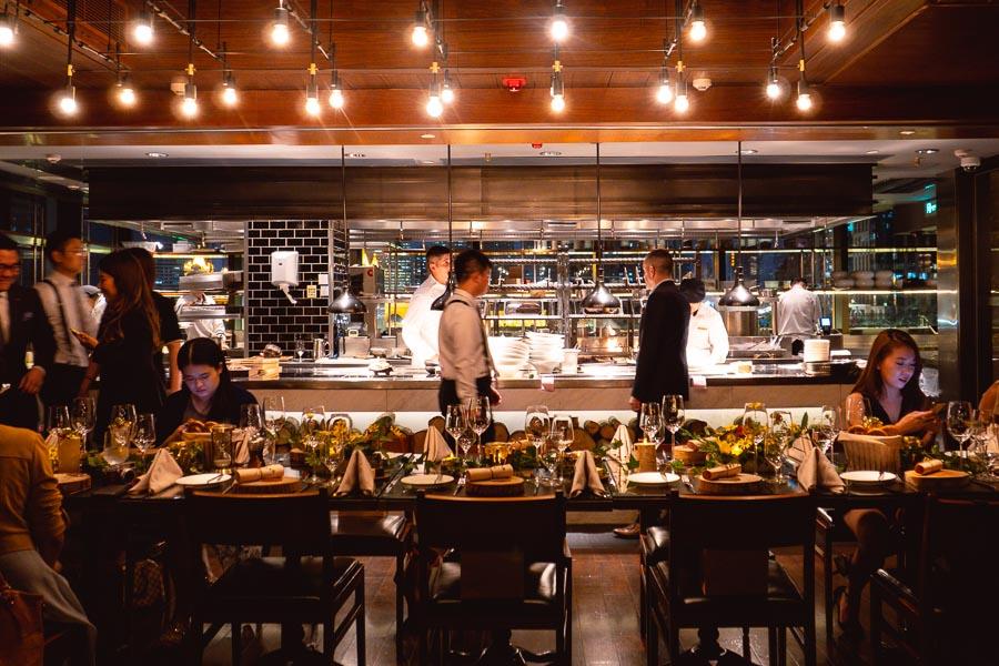 1515 West Chophouse & Bar is a high-end steakhouse at the Jingan Shangri-la in Shanghai. Photo by Rachel Gouk