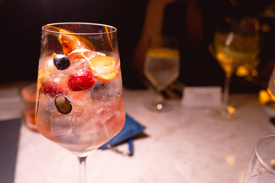 Gin and tonics at Bespoke Modern Bar and Grill, steakhouse at the St Regis Shanghai Jingan. Photo by Rachel Gouk