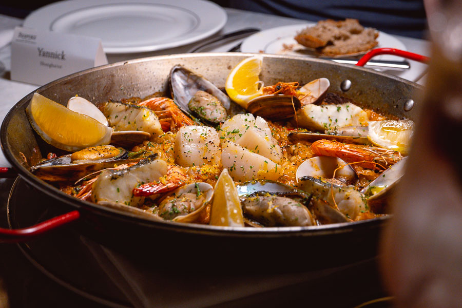 Paella at Bespoke Modern Bar and Grill, steakhouse at the St Regis Shanghai Jingan. Photo by Rachel Gouk