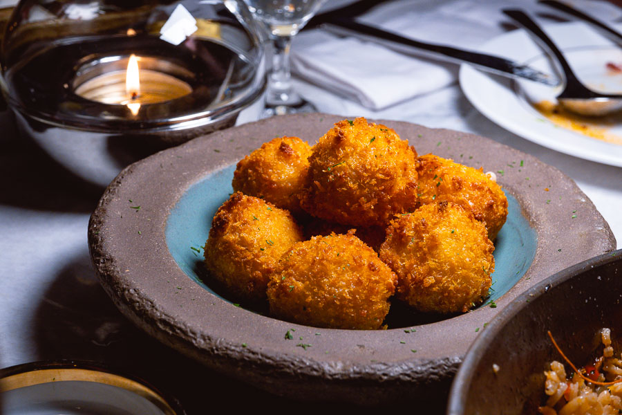 Croquettes at Bespoke Modern Bar and Grill, steakhouse at the St Regis Shanghai Jingan. Photo by Rachel Gouk