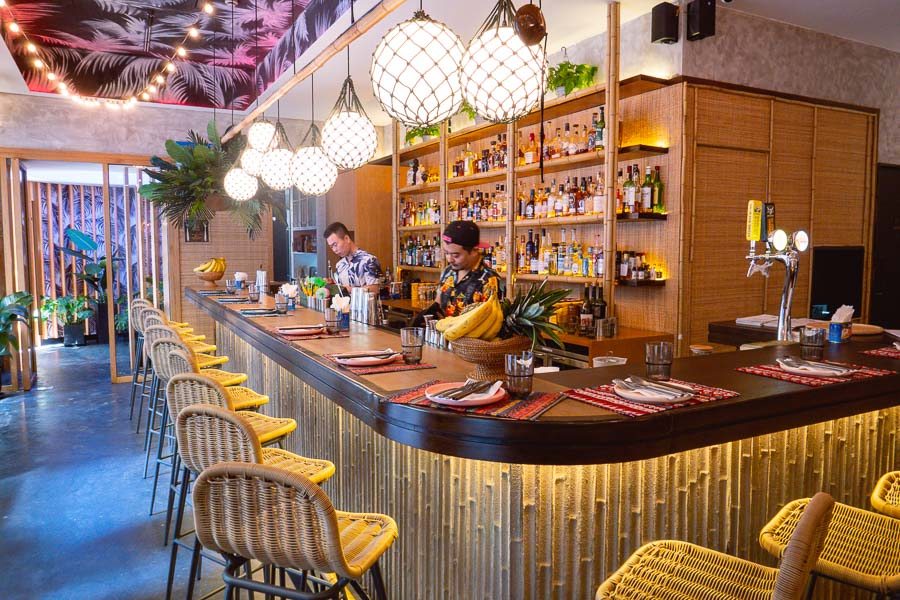 Birds of Paradise, a tiki-inspired cocktail bar and restaurant by Yao Lu and Austin Hu in Shanghai.