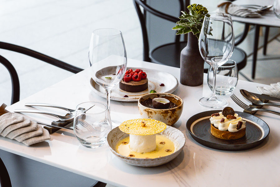 Desserts at Oxalis, a French bistro in Shanghai. Photo by Rachel Gouk.